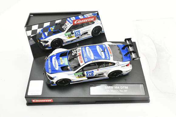 20027571 EVOLUTION/CARRERA 1/32 SLOT CAR BMW M4 DTM 'M.MARTIN, NO. 36