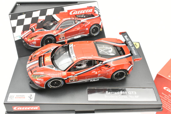 48627558 EVOLUTION/CARRERA 1/32 SLOT CAR FERRARI 488 GT3 SCUDERIA CORSA,