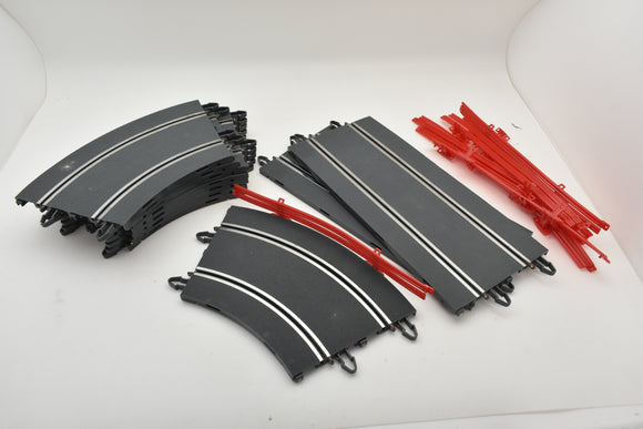 SCX TRACK EXPANSION PACK B10200 STRAIGHT AND CURVES W/ GUARD RAILS  1/32 ASCCESSORIES SLOT TRACK-SCX-ProTinkerToys