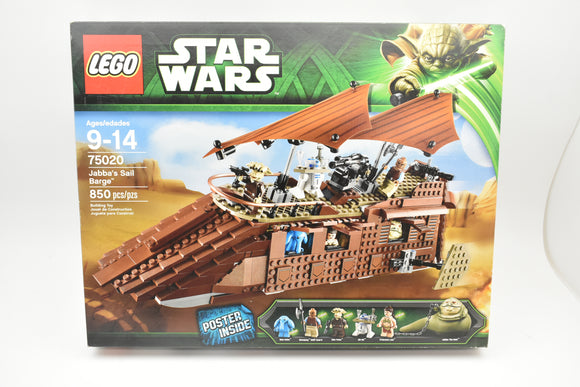 LEGO 75020 Star Wars Jabba's Sail Barge NEW NIB Factory Sealed Retired-Lego-ProTinkerToys