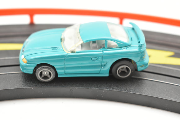 ROKAR BY LIFE-LIKE /9735B/ GREEN MUSTANG/ 1/64 SLOT CAR-Toys & Hobbies:Slot Cars:HO Scale:1970-Now-ProTinkerToys.com