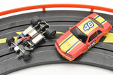 ROKAR BY LIFE-LIKE /13017B/ GENERIC NASCAR RED/YELLOW WITH LIGHTS / 1/64 SLOT CAR-Toys & Hobbies:Slot Cars:HO Scale:1970-Now-ProTinkerToys.com