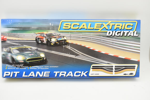 Pit Lane Track (Left Hand) - Includes Sensor | C7014 | Scalextric-Toys & Hobbies:Slot Cars:1/32 Scale:1970-Now-ProTinkerToys.com