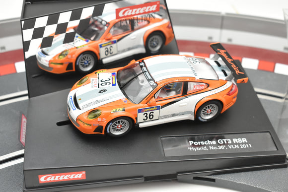 27480 CARRERA 1/32 SLOT CAR EVOLUTION PORSCHE GT3 RSR 'HYBRID, NO.36