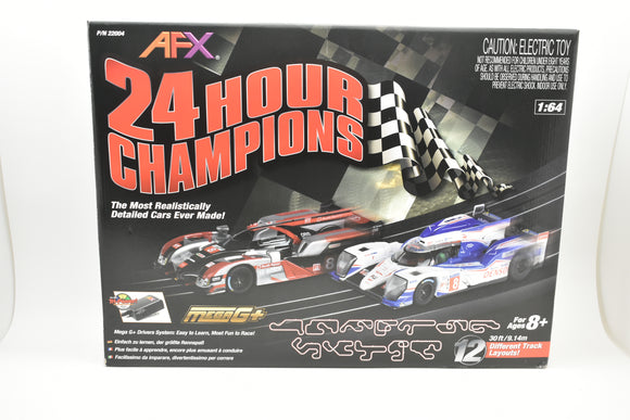 AFX/RACEMASTER | 22004 | Auto World|24 Hour Champions| Race Set w/2 cars-Toys & Hobbies:Action Figures:Transformers & Robots-ProTinkerToys.com
