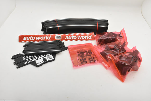 AUTO WORLD TRAXESSORIES| TRX00194| RADIUS BANKED CURVE TRACK PACK SET|-Toys & Hobbies:Slot Cars:HO Scale:1970-Now-ProTinkerToys.com