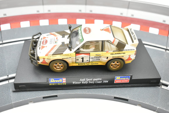 08339 | Revell MODEL RACING | Audi Sport Quattro Winner Rally Ivory Coast 1984|1/32 Slot Car-Toys & Hobbies:Slot Cars:1/32 Scale:1970-Now-ProTinkerToys.com