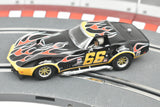 Chevrolet Corvette No.66 Flames | Black Red Flames | C4107 | Scalextric-Toys & Hobbies:Slot Cars:1/32 Scale:1970-Now-ProTinkerToys.com