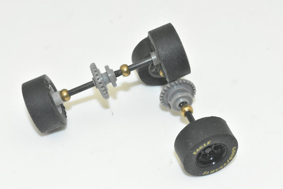 SCX 1/32 NASCAR REAR AXLE W/TIRES | 2/ Axles | SB1442 | 1/32 PARTS-Toys & Hobbies:Slot Cars:1/32 Scale:1970-Now-ProTinkerToys.com
