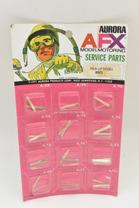 Aurora / AFX  |88521| Pick-Up Shoes | 1 card of 12/Pk| Service Parts-american line-ProTinkerToys