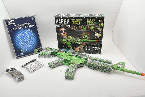 Spitball Blaster - Paper Shooter|1901| Combo w/ ammo/shells/mold/magazine-Sporting Goods:Outdoor Sports:Other Outdoor Sports-ProTinkerToys.com