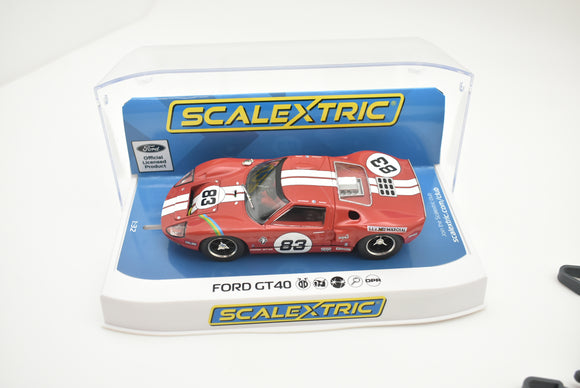 Ford GT40 - Red No.83 - | C4152 | Scalextric-Toys & Hobbies:Slot Cars:1/32 Scale:1970-Now-ProTinkerToys.com