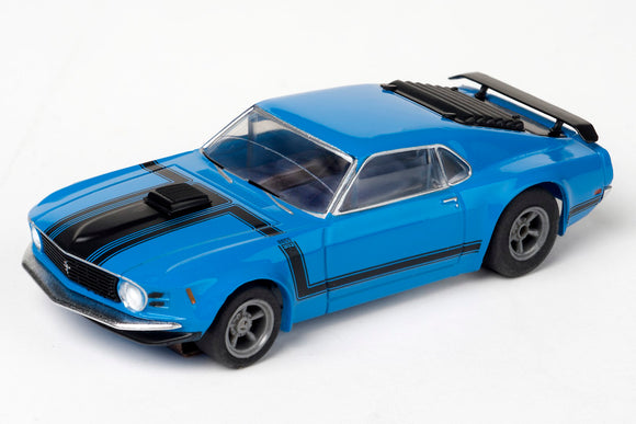 Mustang CLEAR – Boss 302 – Blue – | 21004 | AFX/Racemasters-Toys & Hobbies:Slot Cars:HO Scale:1970-Now-ProTinkerToys.com