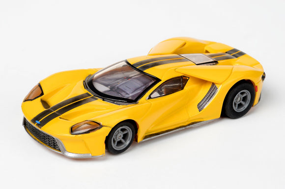 Ford GT – Triple Yellow – | 22029 / 21007 | AFX/Racemasters-AFX/RACEMASTER-ProTinkerToys