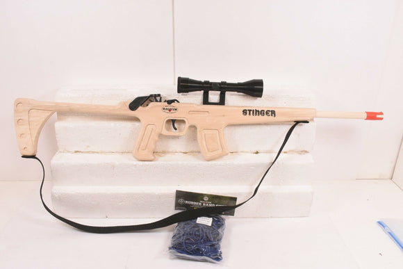 MAGNUM RUBBER BAND GUNS STINGER RIFLE W/ SCOPE & SLING GL2STNGSS PLUS AMMO-Toys & Hobbies:Classic Toys:Other Classic Toys-ProTinkerToys.com