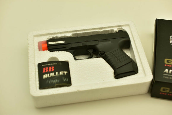 G.19 Metal Zinc Alloy Shell Subcompact Airsoft Spring Pistol Hand Gun | VBS92074-Sporting Goods:Outdoor Sports:Airsoft:Guns:Spring:Pistol-ProTinkerToys.com