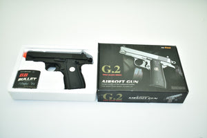 G.2 Metal Zinc Alloy Shell Subcompact Airsoft Spring Pistol Hand Gun | VBS92231-Sporting Goods:Outdoor Sports:Airsoft:Guns:Spring:Pistol-ProTinkerToys.com