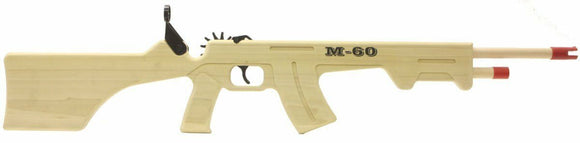 M-60 Combat Rifle + Ammo | GL2M60 | Magnum Rubber Band Guns-Magnum wooden guns-ProTinkerToys