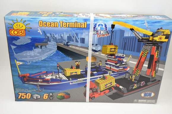 COBI 1970 OCEAN TERMINAL 750 PARTS 6/FIGURES MOVES ON WHEELS SHIP W/ CRANE-Toys & Hobbies:Building Toys:Building Toy Pieces & Accessories-ProTinkerToys.com