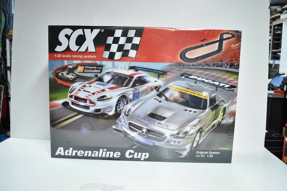 SCALE SLOT CAR SET ADRENALINE CUP | A10130X5U0 | ORIGINAL SYSTEM SET C3 1/32-SCX-ProTinkerToys