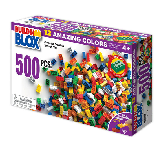 Build'n Blox 500 Pcs Set-Toys & Hobbies:Building Toys:Building Toy Pieces & Accessories-ProTinkerToys.com