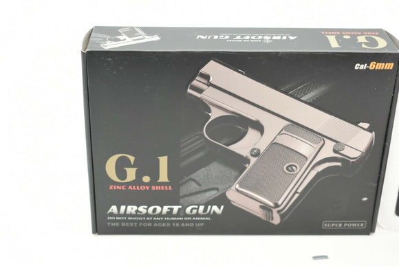 G.1 Metal Zinc Alloy Shell Subcompact Airsoft Spring Pistol Hand Gun | VBS92067-Sporting Goods:Outdoor Sports:Airsoft:Guns:Spring:Pistol-ProTinkerToys.com