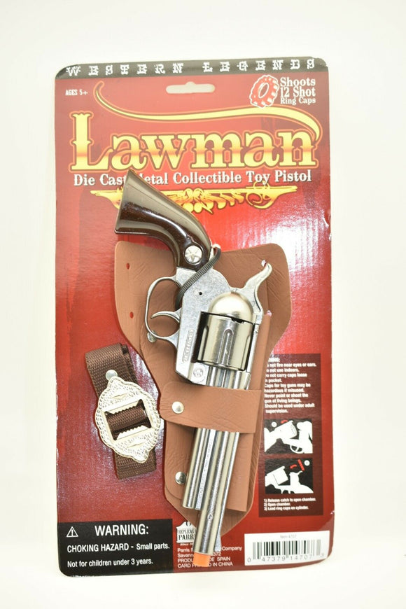 Lawman Toy Pistol w/ Holster and Belt-Toys & Hobbies:Vintage & Antique Toys:Cap Guns:Diecast-ProTinkerToys.com
