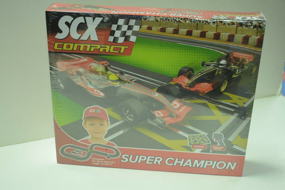 SCX Compact Super Champion 1/43 Slot Car Set Race C10124X5U0-Toys & Hobbies:Slot Cars:1/32 Scale:1970-Now-ProTinkerToys.com