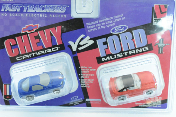 LIFE-LIKE RACING FAST TRACKERS # 9745 CHEVY CAMERO / FORD MUSTANG-Toys & Hobbies:Slot Cars:HO Scale:1970-Now-ProTinkerToys.com