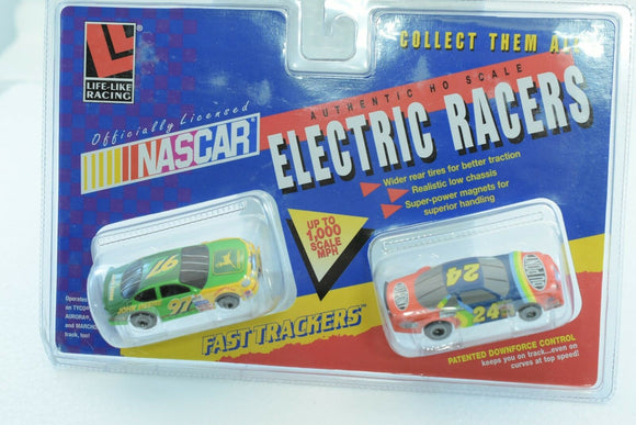 LIFE-LIKE RACING FAST TRACKERS NASCARS# 9775JOHN DEERE #97 / DUDONT #24-Toys & Hobbies:Slot Cars:HO Scale:1970-Now-ProTinkerToys.com