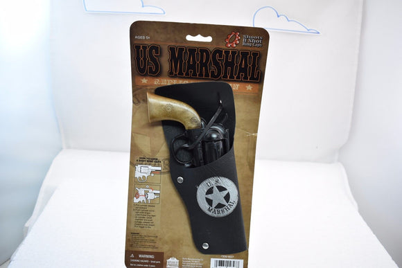 US Marshal Pistol Revolver & Holster Set-Toys & Hobbies:Vintage & Antique Toys:Cap Guns:Diecast-ProTinkerToys.com