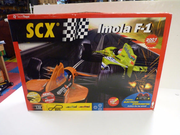 SCX ANALOG 2001 # 80460 IMOLA F-1 SLOT CAR SET 1/32 C-3 SET 2001-SCX-ProTinkerToys