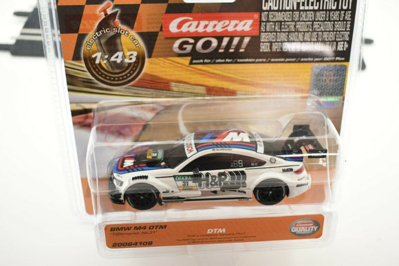 20064108 CARRERA GO 1:43 SLOT CAR BMW M4 DTM