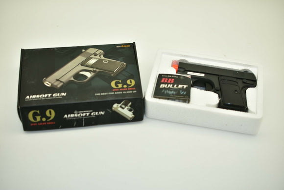 G.9 Metal Zinc Alloy Shell Subcompact Airsoft Spring Pistol Hand Gun | VBS92068-Sporting Goods:Outdoor Sports:Airsoft:Guns:Spring:Pistol-ProTinkerToys.com