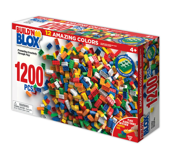 Build'n Blox 1200 Pcs Set-Toys & Hobbies:Building Toys:Building Toy Pieces & Accessories-ProTinkerToys.com