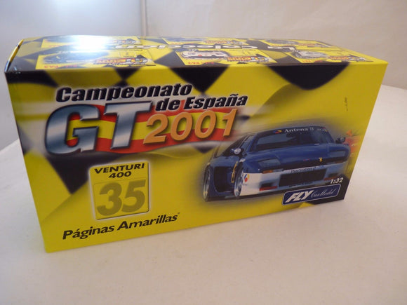 PA 6 FLY CAR 1/32 SCALE CAMPEONATO DE ESPANA GT 2001 VENTURI 400 35-Toys & Hobbies:Slot Cars:1/32 Scale:1970-Now-ProTinkerToys.com
