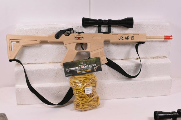 Jr. AR-15 Combat Rifle w/ Scope & Sling + Ammo-Toys & Hobbies:Classic Toys:Other Classic Toys-ProTinkerToys.com