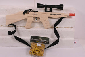 Jr. AK-47 Combat Rifle w/ Scope & Sling + Ammo-Toys & Hobbies:Classic Toys:Other Classic Toys-ProTinkerToys.com