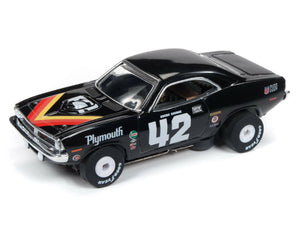AUTO WORLD SC338 THUNDER JET ULTRA+G TRANS AMERICA RACING 1970 PLYMOUTH 'CUDA-Toys & Hobbies:Slot Cars:HO Scale:1970-Now-ProTinkerToys.com