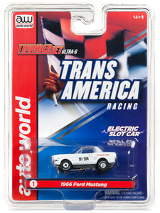 AUTO WORLD SC338 THUNDER JET ULTRA+G TRANS AMERCIA RACING 1966 FORD MUSTANG-Toys & Hobbies:Slot Cars:HO Scale:1970-Now-ProTinkerToys.com