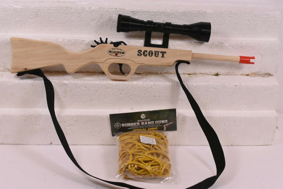 Scout Rifle w/ Scope & Sling + Ammo-Magnum wooden guns-ProTinkerToys