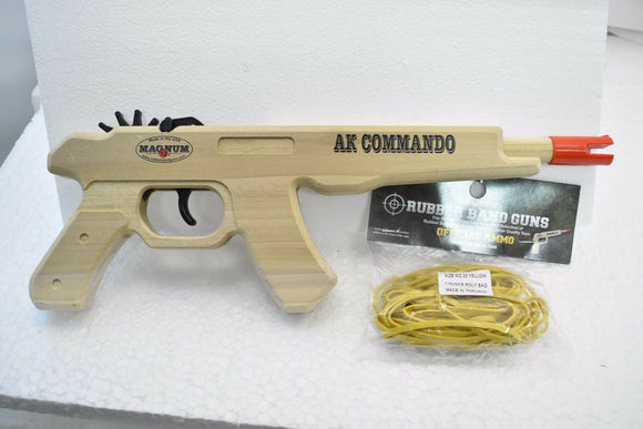 AK Commando Pistol + Ammo | GL2AKC | Magnum Rubber Band Guns-Magnum wooden guns-ProTinkerToys