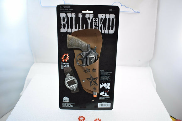 """Billy the Kid"" Revolver w/ Belt and Holster-Toys & Hobbies:Vintage & Antique Toys:Cap Guns:Diecast-ProTinkerToys.com"