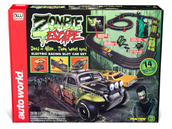 14' Zombie Escape HO Scale | Auto World-Toys & Hobbies:Slot Cars:HO Scale:1970-Now-ProTinkerToys.com