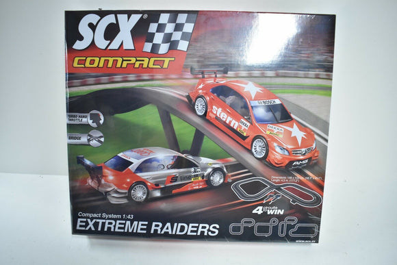 SCX 1/ EA C10164X500 COMPACT EXTREME RAIDERS 1/43 SLOT CAR SET 2/CAR SET BASIC-Toys & Hobbies:Slot Cars:1/32 Scale:1970-Now-ProTinkerToys.com