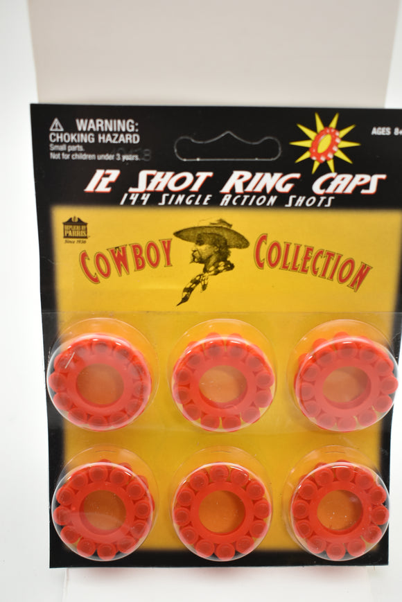 12 Shot Ring Caps 144 Single Action Shots | 914 | Parry Toys-Toys & Hobbies:Vintage & Antique Toys:Cap Guns:Diecast-ProTinkerToys.com