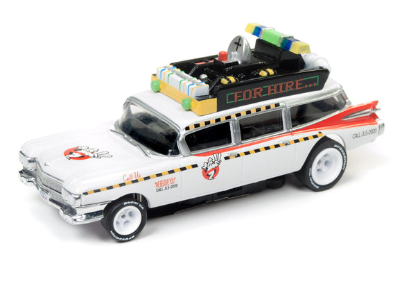 ECTO-1A 1959 Cadillac Eldorado Ghostbusters | Silver Screen Machine | Auto World | 2-Toys & Hobbies:Slot Cars:HO Scale:1970-Now-ProTinkerToys.com