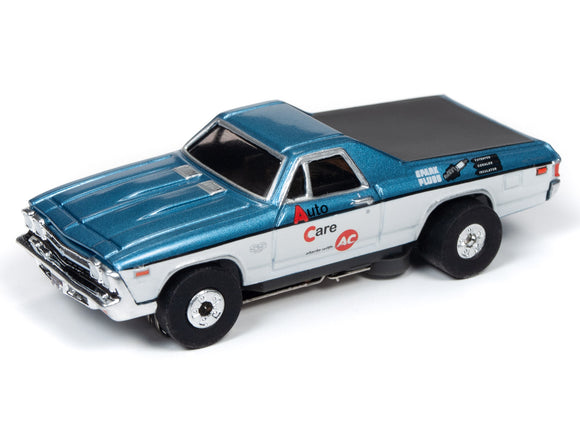 1969 Chevrolet El Camino (Blue/White) | Muscle Cars USA | Auto World | 3-Toys & Hobbies:Slot Cars:HO Scale:1970-Now-ProTinkerToys.com