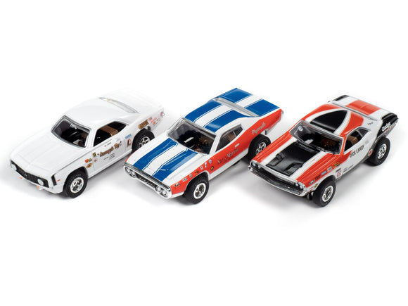3 Pack  LEGENDS OF THE QUARTER MILE X-TRACTION SC351 all 3 cars.-Auto World-ProTinkerToys