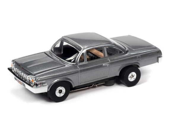 1962 Chevrolet Bel Air |Silver |Thunderjet- Release 32 | Auto World | SC359-Toys & Hobbies:Slot Cars:HO Scale:1970-Now-ProTinkerToys.com